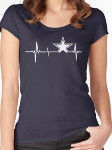 Dallas Cowboys Heartbeat Women's Fitted Scoop T-Shirt