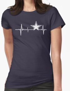 Dallas Cowboys Heartbeat Womens Fitted T-Shirt
