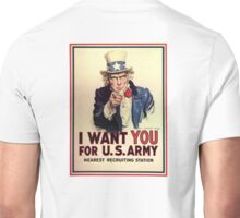 America, American, I Want You! Uncle Sam Wants You, USA, War, Recruitment Poster Unisex T-Shirt