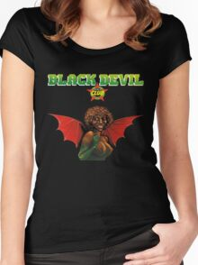 Bernard Fevre - Black Devil Disco Club Women's Fitted Scoop T-Shirt