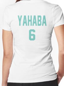 Haikyuu!! Jersey Yahaba Number 6 (Aoba) Women's Fitted V-Neck T-Shirt
