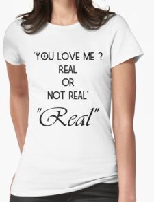 Hunger Games : Real or Not Real Womens Fitted T-Shirt