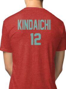 Haikyuu!! Jersey Kindaichi Number 12 (Aoba) Tri-blend T-Shirt