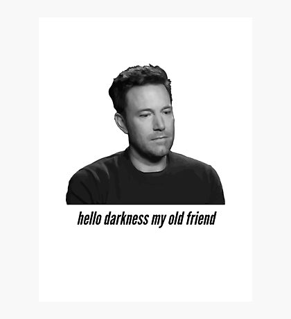 Sad Ben Affleck Photographic Print