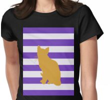 Orange cat Womens Fitted T-Shirt