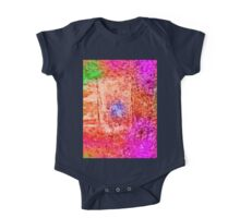 Colourful Abstract Texture One Piece - Short Sleeve