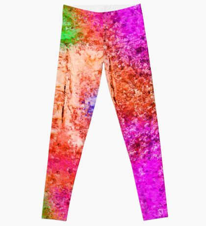 Colourful Abstract Texture Leggings