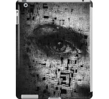 Kate Moss Series 1 - Eye Detail 3 - Words - Black and White iPad Case/Skin