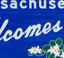 Massachusetts Welcomes you  Sticker