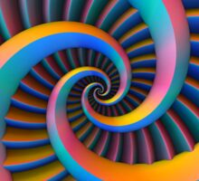 Opposing Spiral Pattern in 3-D Sticker