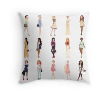 Trendy Princesses Throw Pillow