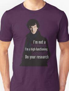 Sherlock - Psychopath/ Sociopath T-Shirt