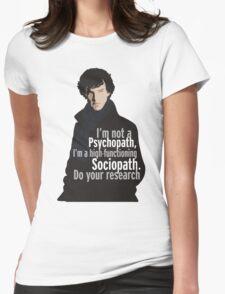 Sherlock - Psychopath/ Sociopath Womens Fitted T-Shirt