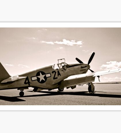 Tuskegee P-51 Mustang Vintage Fighter Plane Sticker