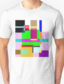 Colourfull Rectangle Madness Unisex T-Shirt