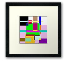 Colourfull Rectangle Madness Framed Print