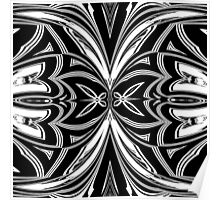 Striking Black and White Butterfly Design Poster