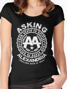 Asking Alexandria rock n roll Women's Fitted Scoop T-Shirt