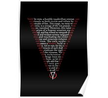 V for Vendetta - Who are you? Poster