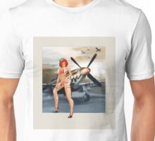 Vintage WW2 Style Pin Up Art - Mustang Sally Unisex T-Shirt