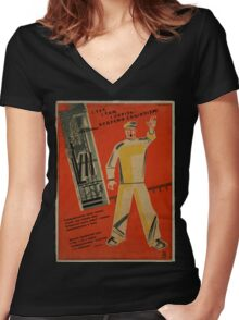 The Future Of Socialism Women's Fitted V-Neck T-Shirt
