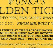 Dean's Golden Tickets on Black Sticker