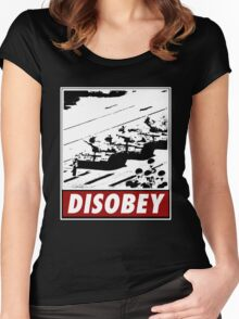 Tank Man- Disobey Women's Fitted Scoop T-Shirt