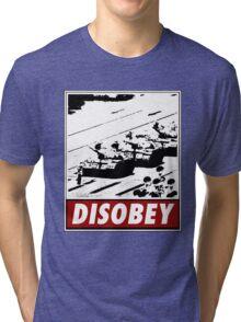 Tank Man- Disobey Tri-blend T-Shirt