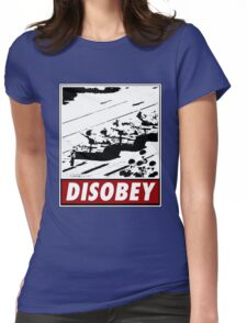 Tank Man- Disobey Womens Fitted T-Shirt