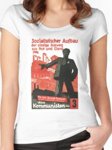 Socialist Construction Women's Fitted Scoop T-Shirt