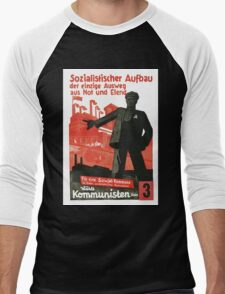 Socialist Construction Men's Baseball ¾ T-Shirt