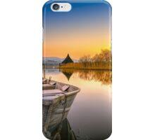 Sunset over Llangorse Lake iPhone Case/Skin