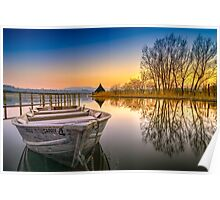 Sunset over Llangorse Lake Poster
