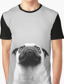 Pondering Pug Graphic T-Shirt
