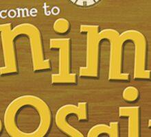 Animal Crossing Logo Sticker