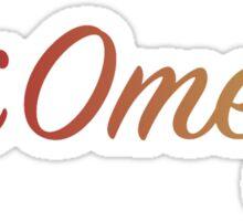 Chi Omega Colors! Sticker