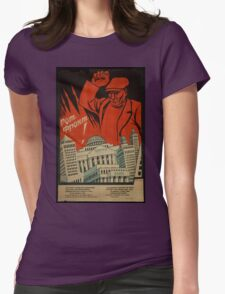 Red Front! Womens Fitted T-Shirt