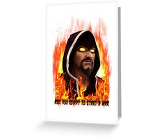 wizard fire Greeting Card