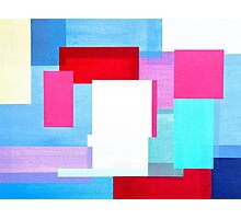 Coloured Squares Photographic Print