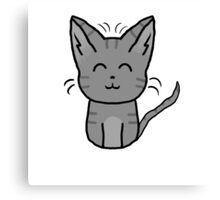 Little Grey Kitten Cat Canvas Print