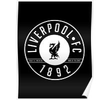 Liverpool FC - 1892 BLACK & WHITE Poster