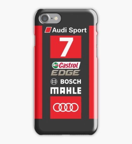 Audi R18 e-tron #7 LeMans 2016 iPhone Case/Skin