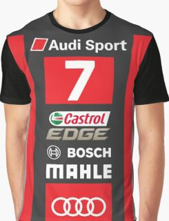Audi R18 e-tron #7 LeMans 2016 Graphic T-Shirt