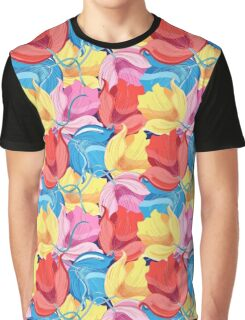 Graphic pattern of colorful flowers Graphic T-Shirt