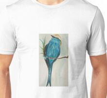 Perched Racket Tailed Roller Unisex T-Shirt