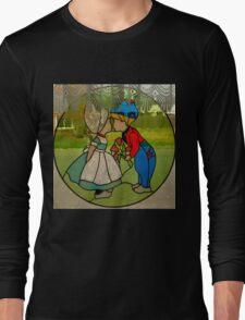 Dutch Kissing Tulip Couple Long Sleeve T-Shirt