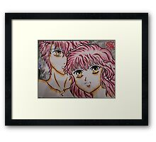 kawaii couple Framed Print