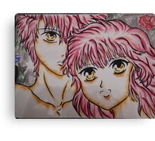 kawaii couple Canvas Print