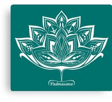 Lotus Flower Padmasana Yoga design Canvas Print