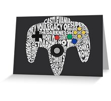 N64 Controller - Typography  Greeting Card